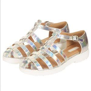 Topshop holographic Florence gladiator EDC sandal
